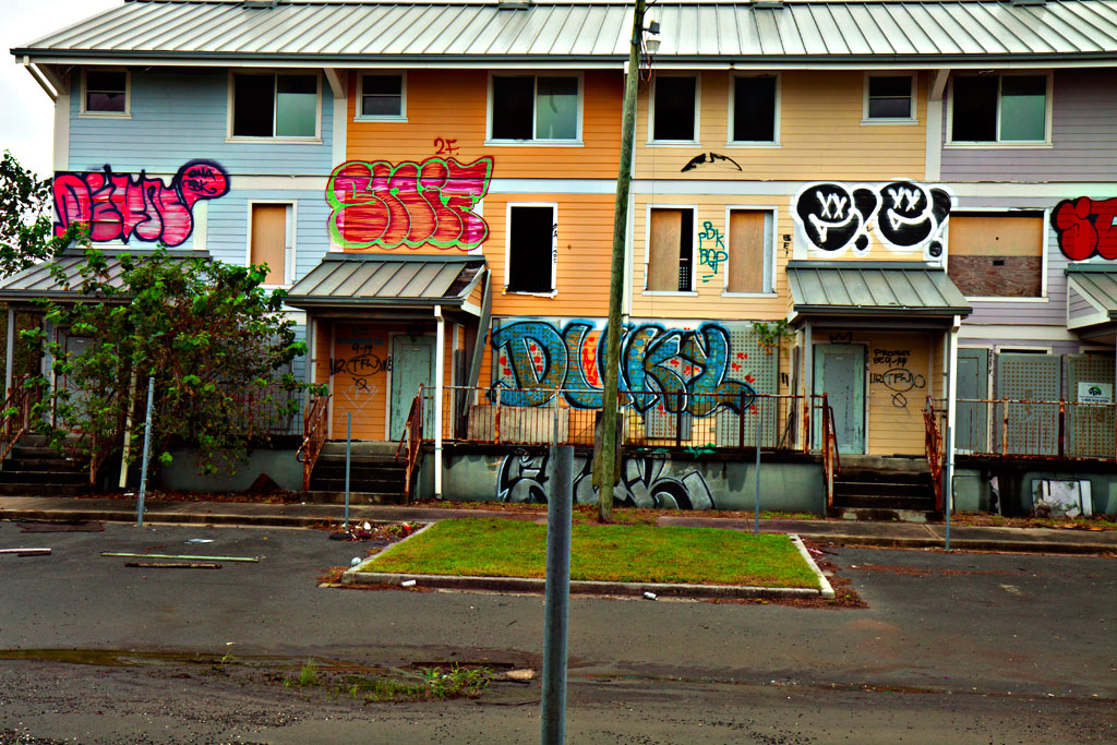 Public-housing-ruined-by-Katrina--New-Orleans-5