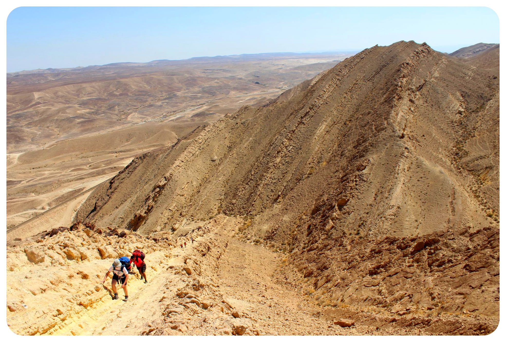 negev desert big fin hike
