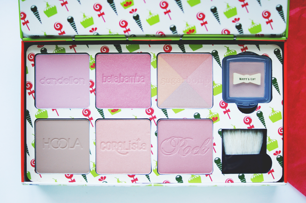 benefit cheeky sweet spot box o' blushes holiday 2014