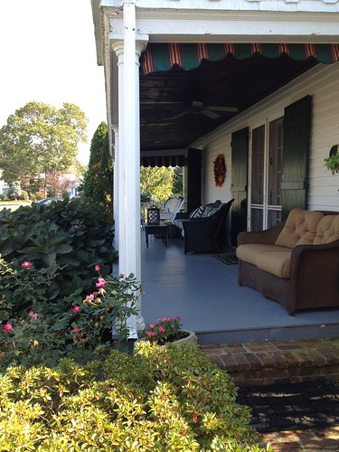 front porch, maternal grandparents home