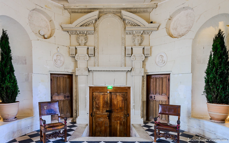 The Rear Gallery Doors - Château de Chenonceau