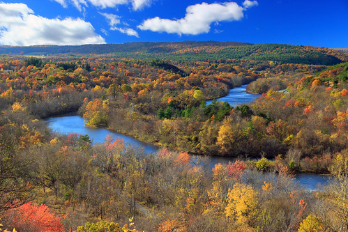 autumn trees sky mountains clouds landscape hiking pennsylvania hills creativecommons bluemountain appalachianmountains stratocumulus lehighriver kittatinnymountain carboncounty lehighgap lehighgapnaturecenter