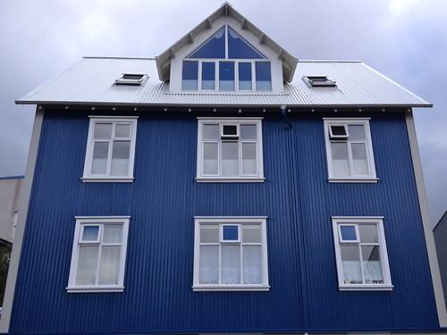 Iceland Reykjavik blue house
