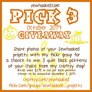 sewhooked.com October 2014 Pick 3 Giveaway!