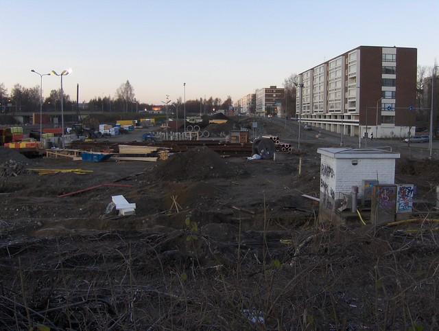 Hämeenlinnan moottoritiekate ja Goodman-kauppakeskus: Työmaatilanne 20.11.2011 - kuva 9