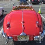 1957 Jaguar XK 140, 2014 Edgewater Ford Assembly Plant Auto Show, New Jersey