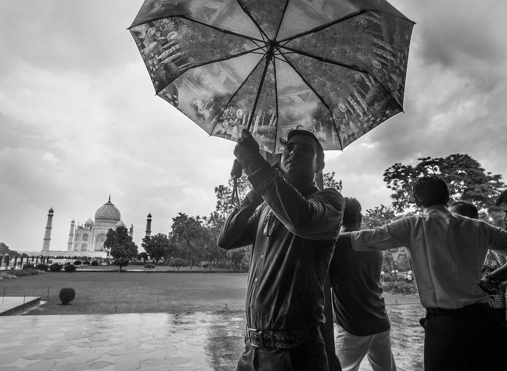 Downpour at the Taj