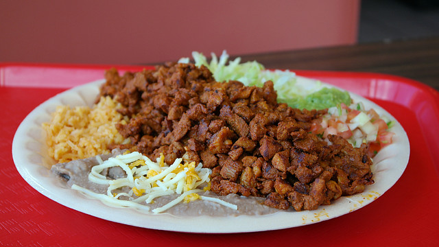 Adobado Plate Abelardos Mexican Restaurant in Des Moines, Iowa
