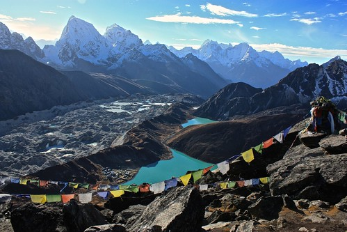 Gokyo, the Gokyo lakes, and the Ngozumba Glacier