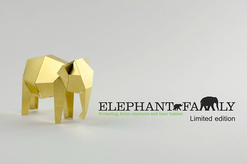 Foldable Asian elephant sculpture - Kickstarter project, Poligon