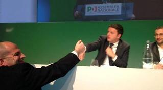 Vitto al congresso nazionale, sale sul carro di Renzi