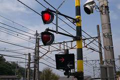 electrical supply, signaling device, overhead power line, street light, electricity, lighting, traffic light,