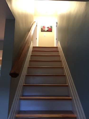 Looking up stairs