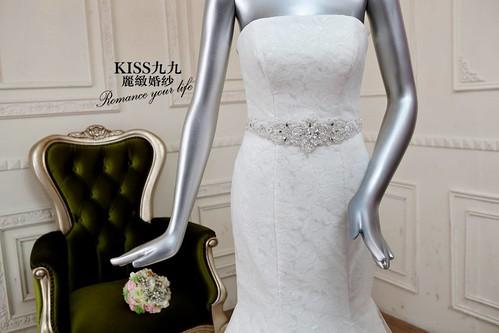 高雄KISS九九麗緻婚紗-推薦婚紗禮服-窄擺魚尾1