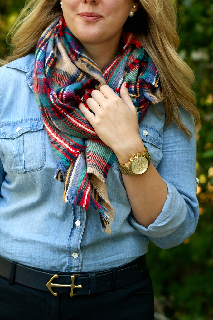 target oversized plaid scarf