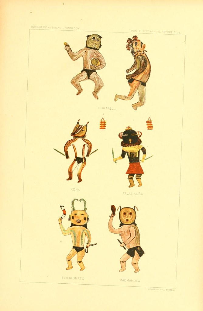 Hopi Drawings of Kachinas (1903) – The Public Domain Review  Hopi Drawings