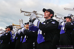 Sweet Home Chicago ::  	   The Northwestern University 'Wildcat' Marching Band performs at Ryan Field as Northwestern Football hosts Wisconsin on October 4, 2014.  Photo by Daniel M. Reck '08 MSEd.