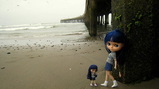 the blue sisters.. by the pier