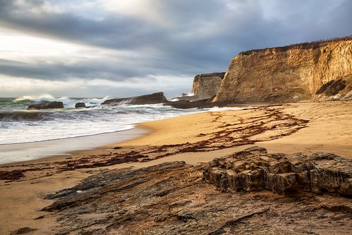 ocean california seascape beach clouds landscape coast pacific shore pantherbeach