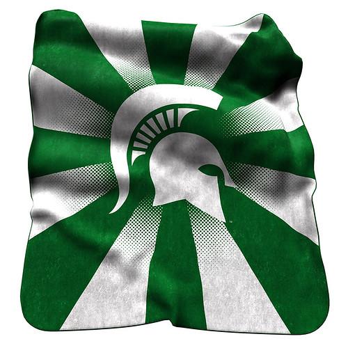 Michigan State Spartans NCAA Raschel Blanket