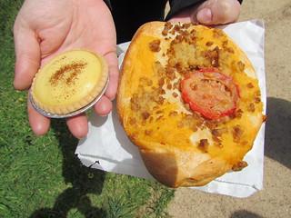 Custard Tart and Pizza Scroll from La Panella