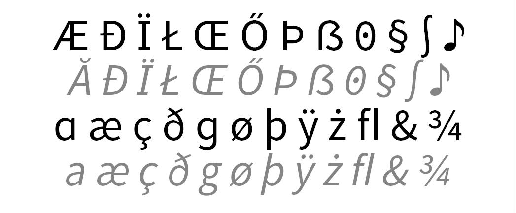 Die Source Sans hat viel zu bieten.