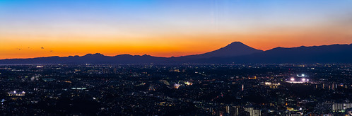 sunset japan night twilight fuji panoramic yokohama 横浜