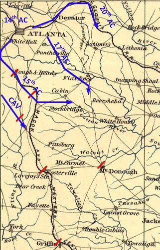 Marching through Georgia: November 15, 1864 – The first day ... on atlanta campaign map, george b. mcclellan, confederate states of america, bleeding kansas map, pickett's charge map, battle of fredericksburg map, battle of antietam map, james longstreet, gettysburg campaign map, american civil war, battle of perryville map, battle of nashville map, battle of atlanta map, jefferson davis, vicksburg campaign map, anaconda plan map, battle of shiloh, battle of fort sumter, fort sumter map, philip sheridan, appomattox court house map, battle of resaca map, george meade, battle of gettysburg, ambrose burnside, george armstrong custer, morgan's raid map, battle of vicksburg, ulysses s. grant, battle of antietam, stonewall jackson, robert e. lee, second battle of bull run map, chattanooga campaign map, battle of olustee map, american civil war map, first battle of bull run, george pickett,