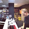 The legendary Ed in his new shop, Vive Le Velo!