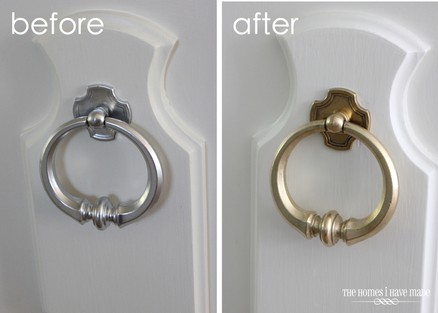 brass hardware - removing paint and polishing it until it shines