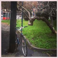 Un #kebab con bici a vista #torino #mangiobrutto #digeriscolento #fixedforum