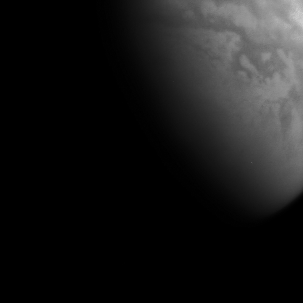 Titan below the atmosphere on October 23, 2014 (from about 90.000 km) W00090601-03 - cb3 filter stack