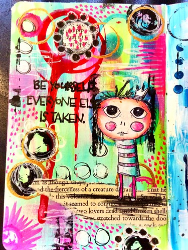 Mini journal page inspired by the lovely Kate Crane
