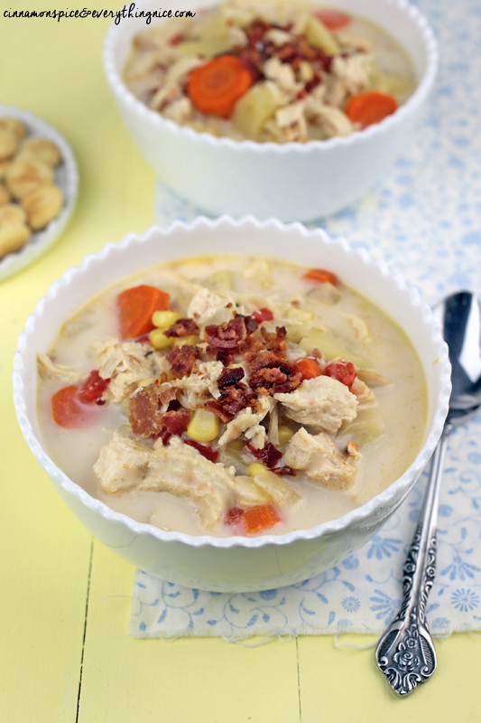 Crockpot Chicken Chowder