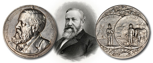 Harrison Indian Peace Medal in Silver