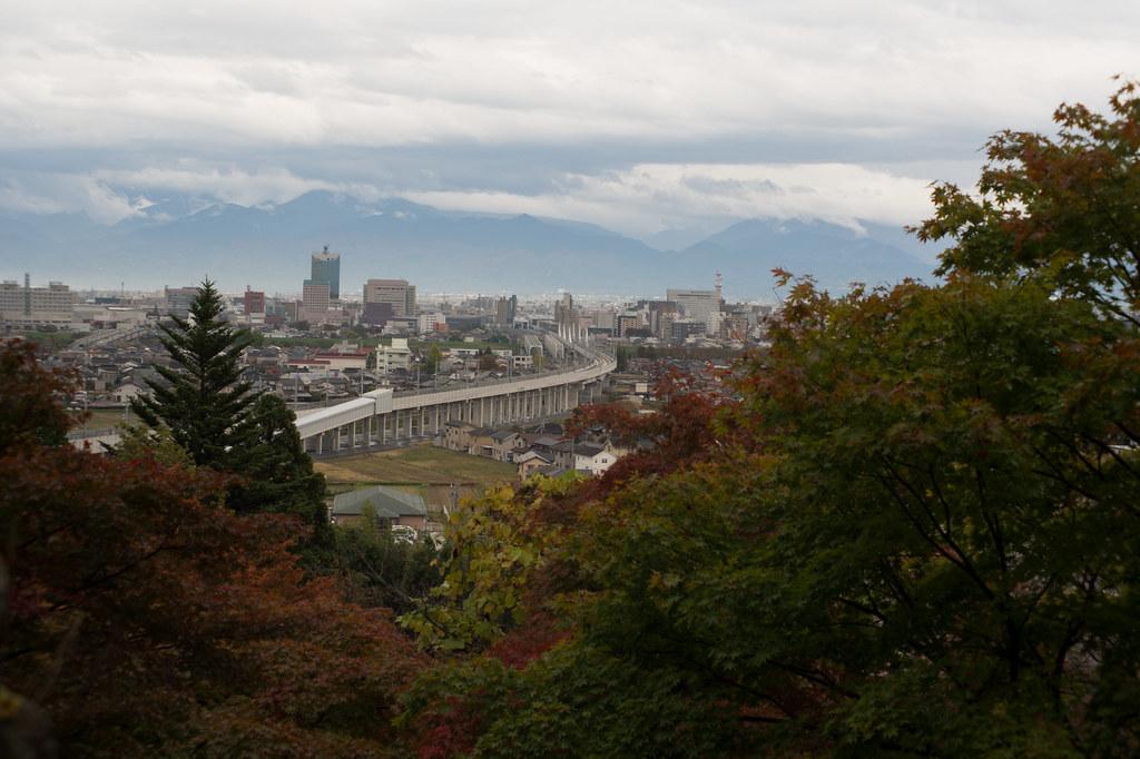 呉羽山から見た富山駅
