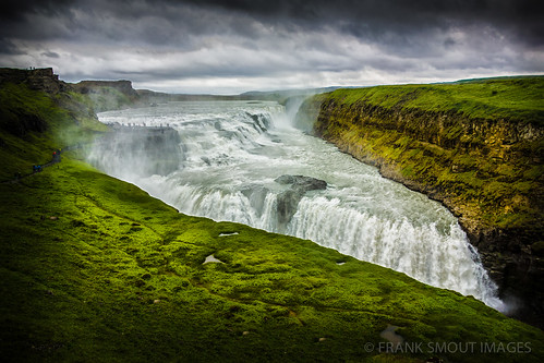 nature water landscape waterfall iceland view gullfoss