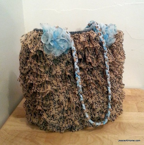 Ruffled Project Bag ~ Free Crochet Pattern Jessie At Home
