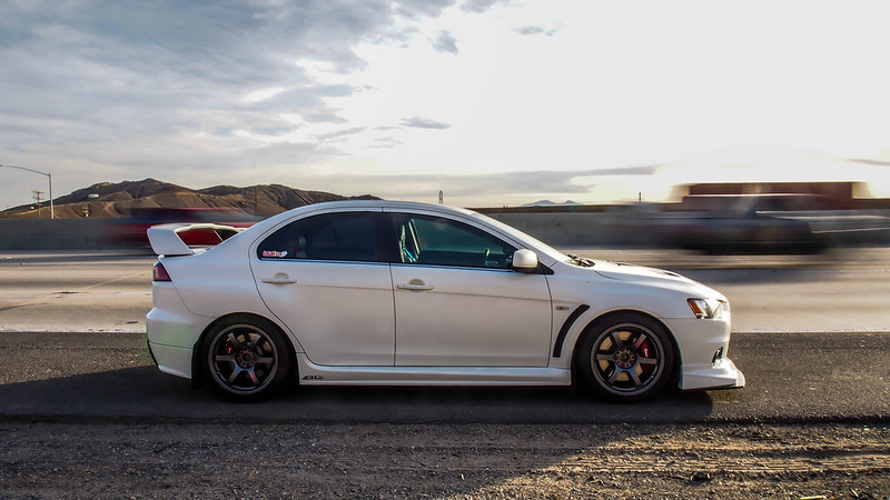 thank you even though i deleted the picture from my flickr haha - Mitsubishi Evo X Wicked White
