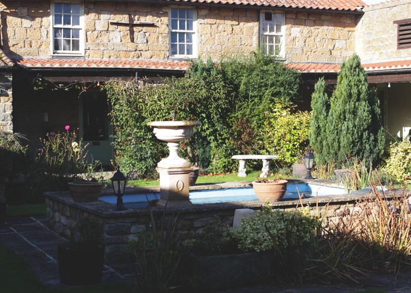 courtyard patio, ox pasture hall