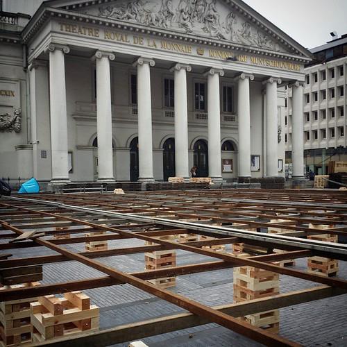 'Place de la Monnaie' - #brussels #belgium 2014 #monnaie #muntplein #opera #stage #photography
