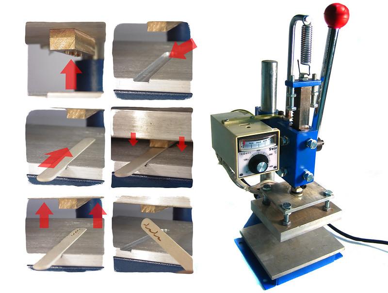 Máquina para queimar palitos de sorvete