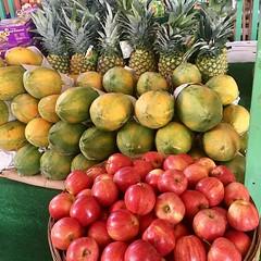 @Regrann_App from @mariacoronaproduce  -  Fresh every week!! Maria Corona Produce🍎🍍🍎🍍#yellowgreenfarmersmarket #homestead #hollywoodfl #vegan #vegetarian #piña #pineapple #fruits #fruitsalad #fruitlover #galaapples #farmers