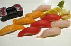 Ali's Sakura Sushi plate, Sakura Sushi restau…
