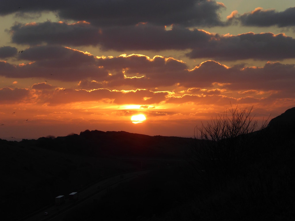 Sunset from the Western Heights Folkestone to Dover walk