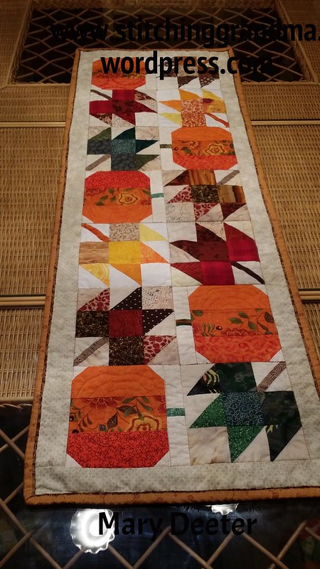 Autumn Jubilee Table Runner finished