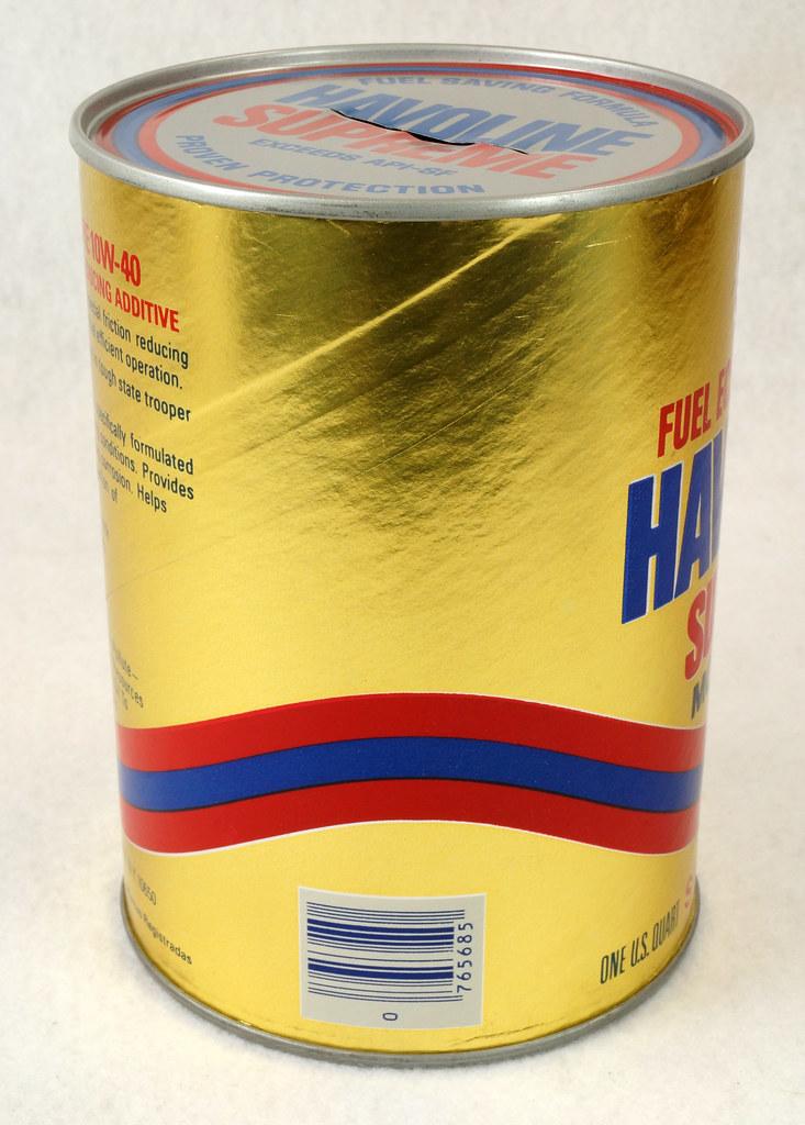 RD14906 Texaco Havoline Supreme Motor Oil Can Coin Bank DSC06460