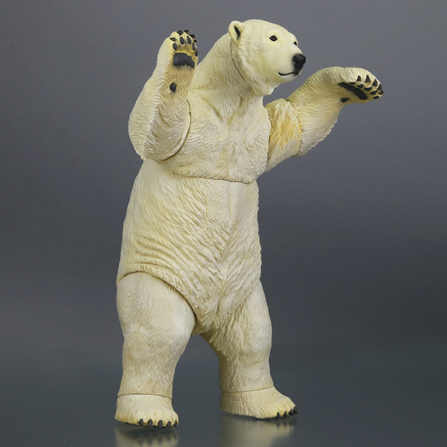 毛茸茸的白色身體好可愛!海洋堂 Sofubi Toy Box009 白熊(北極熊)シロクマ(ホッキョクグマ)