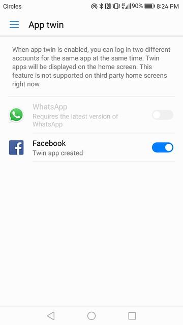 Huawei Mate 9 - EMUI 5.0 - App Twin