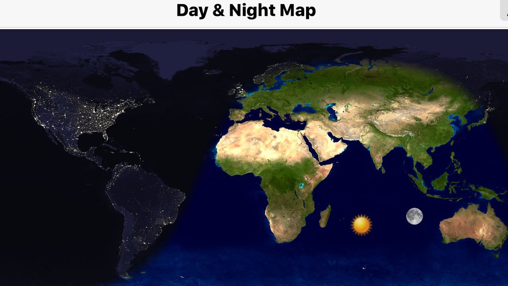 Day Night Map on